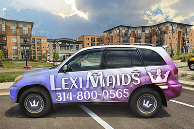 lexi maids vehicle wrap -mobile 1
